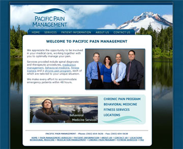 Pacific Pain Management Website